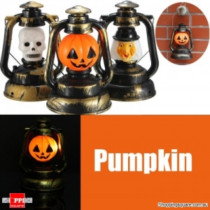 Halloween Pumpkin Skull Witch Lantern Lamp Light With Voice Laughter - Pumpkin