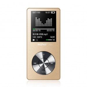 "Fashion 1.8"" LCD MP3 MP4 Music Player 4GB Gold Colour"