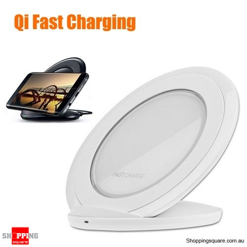 Qi Fast Charging Wireless Charger Pad Stand for Samsung Galaxy S7 S8 Note 8 White Colour