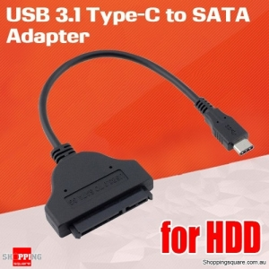USB 3.1 Type-C to SATA Adapter for 2.5 inch HDD SSD