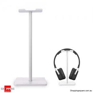 UNIVERSAL Practical Headphone Headset Stand Holder Hanger Desk Display - White Colour