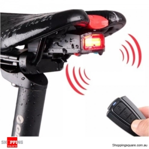 3-in-1 Wireless Rear Light Cycling Bicycle Remote Control Alarm Lock Fixed Position Bike Smart Bell COB Tailight