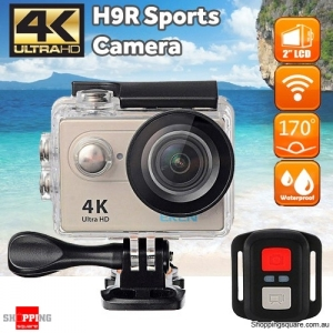 EKEN H9R Sports 170 Degree Wide Angle 4K Ultra HD Action Camera with 2.4G Remote WiFi Gold Colour