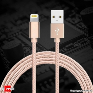 1m Braided Lightning to USB Data Sync Charging Cable for iPhone X/8/8 Plus/7/7Plus