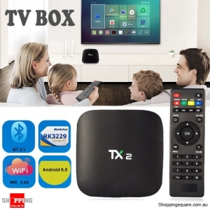 TX2 R2 RK3229 Quad Core 2GB RAM 16GB ROM TV Box Mini PC with Android 6.0 WiFi