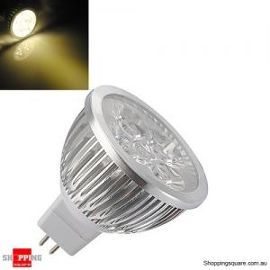 MR16 4W 12V Warm White High Power Focus 4 LED Spot Lamp Bulb Downlight