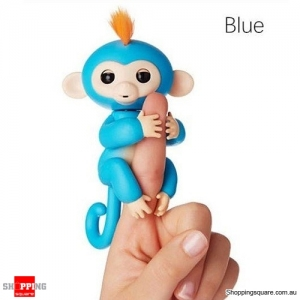 Cute Finger Baby Monkey Robot Interactive Toy for Kids Children Blue Colour