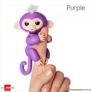 Cute Finger Baby Monkey Robot Interactive Toy for Kids Children Purple Colour