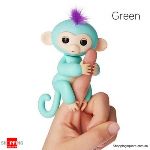 Cute Finger Baby Monkey Robot Interactive Toy for Kids Children Green Colour