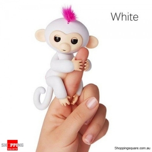 Cute Finger Baby Monkey Robot Interactive Toy for Kids Children White Colour