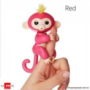 Cute Finger Baby Monkey Robot Interactive Toy for Kids Children Red Colour