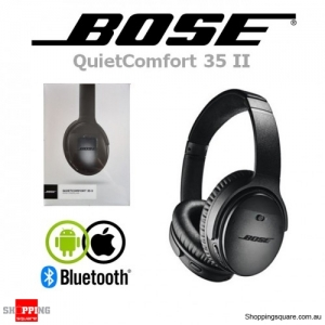 Bose QuietComfort 35 II Wireless Bluetooth Noise Cancelling Headphones Black