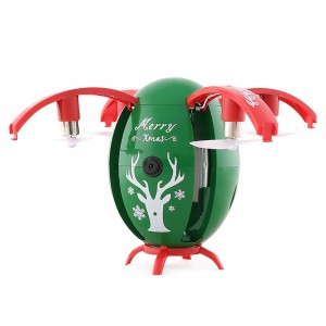 JJRC H66 Christmas Egg WIFI 720P RC Drone Quadcopter - Green Colour