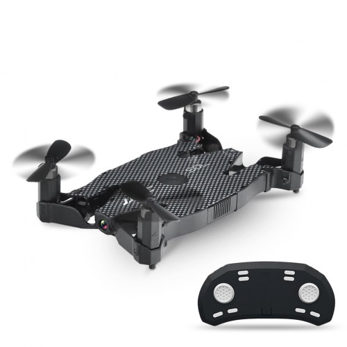 JJRC H49 WiFi FPV Selfie Drone Foldable RC Quadcopter with 720P HD Camera Black Colour