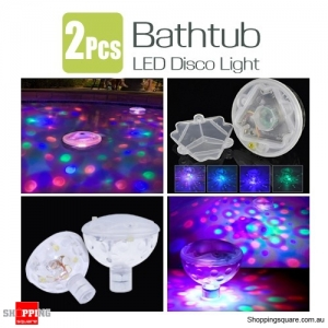 2Pcs of Underwater LED Floating Light Lamp Bathtub Swimming Pool for Disco Party