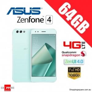 Asus Zenfone 4 64GB ZE554KL 4G LTE 4GB RAM Unlocked Smart Phone Mint Green