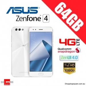 Asus Zenfone 4 64GB ZE554KL 4G LTE 4GB RAM Unlocked Smart Phone Moonlight White