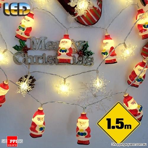 1 5m Led Christmas Santa String Lights Led Fairy Lights For Festival Party Christmas Decoration Shoppingsquare Australia