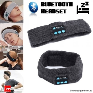 Sleep Sports Wireless Bluetooth Stereo Earphones Headset Headband with Mic Dark Grey Colour