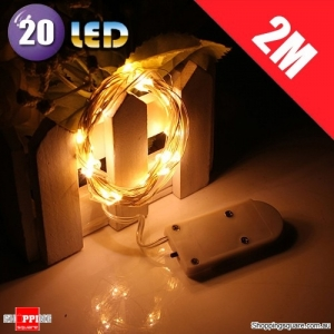 20 LED 2M Fairy Lights Lamp for Christmas Wedding Decoration Warm White Colour