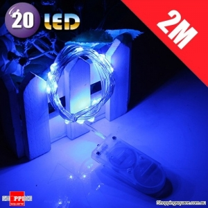 20 LED 2M Fairy Lights Lamp for Christmas Wedding Decoration Blue Colour