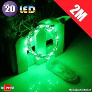 20 LED 2M Fairy Lights Lamp for Christmas Wedding Decoration Green Colour