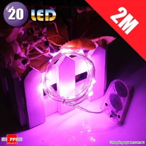 20 LED 2M Fairy Lights Lamp for Christmas Wedding Decoration Pink Colour