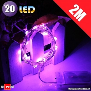 20 LED 2M Fairy Lights Lamp for Christmas Wedding Decoration Purple Colour