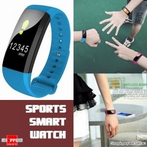 Waterproof M99 Smart Bracelet Watch for Heart Rate Blood Pressure Oxygen Anti Lost Watch Blue Colour