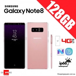 Samsung Galaxy Note 8 128GB N9500 Dual Sim 4G LTE Unlocked Smart Phone Blossom Pink