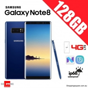 Samsung Galaxy Note 8 128GB N9500 Dual Sim 4G LTE Unlocked Smart Phone Deepsea Blue