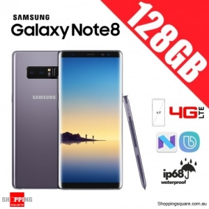 Samsung Galaxy Note 8 128GB N9500 Dual Sim 4G LTE Unlocked Smart Phone Orchid Gray