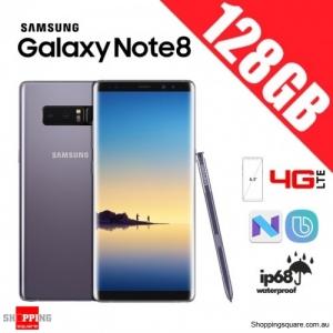 Samsung Galaxy Note 8 128GB N9500 Dual Sim 4G LTE Unlocked Smart Phone Orchid Gray