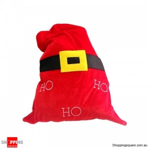 Christmas Santa Stocking Decoration Candy Gift Bag for Storage - Red Bag