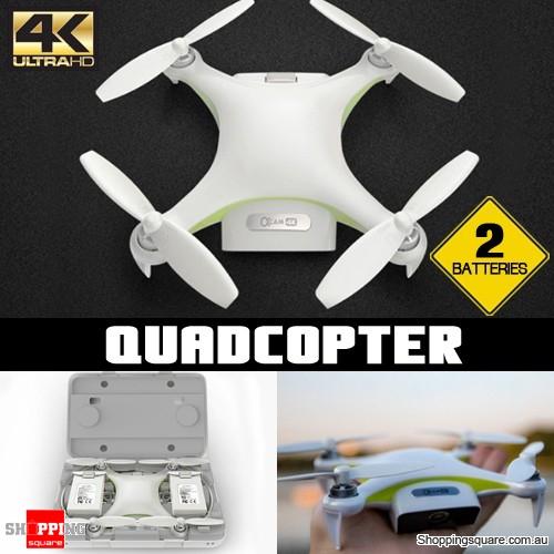 WiFi FPV Mini Flexible Selfie Drone RC Quadcopter with 4K HD Camera GPS 2 Batteries