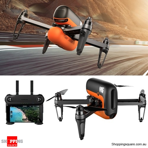 Wingsland M5 Brushless Quadcopter Drone with GPS WIFI FPV 720P Camera RC - Black and Orange