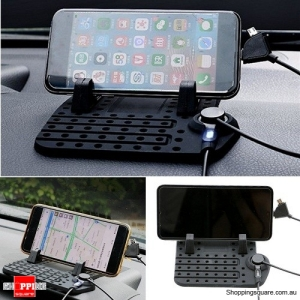 Non-Slip Car Dashboard Charging Holder Stand Mount For iPhone Samsung GPS