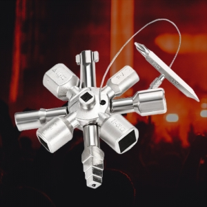 10 in 1 Zinc Alloy Cross Key Wrench Tool for Door and Window