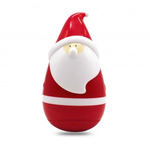 Santa Claus Roly Poly Tumbler Bluetooth Speaker for Christmas Joke Prank