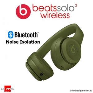 Beats Solo3 Wireless Bluetooth Noise Isolation Headphones Turf Green