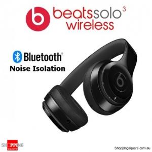 Beats Solo3 Wireless Bluetooth Noise Isolation Headphones Gloss Black