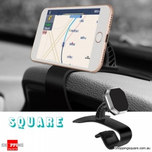 Universal Magnetic Adjustable Dashboard Car Phone Mount Holder Clip Stand - Square