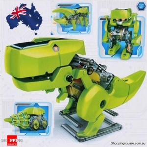 DIY Assemble 4 In 1 Educational Solar Dinosaur Robot Model Building Kit AU Stock