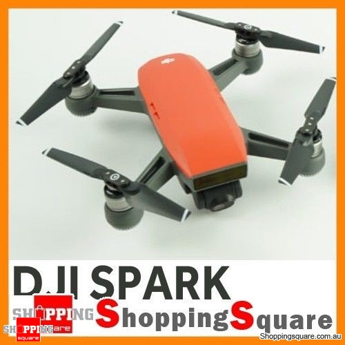 DJI Spark Drone Quadcopter 2KM FPV with 12MP 2-Axis Mechanical Gimbal Camera Gesture Mode (Spark Only) Lava Red Colour