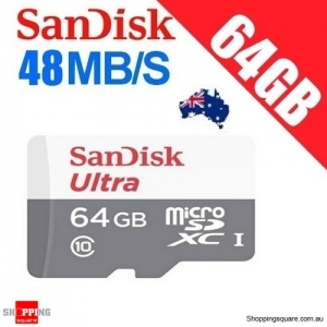 SanDisk Ultra 64GB MicroSD SDSQUNB TF Memory Card up to 48MB/s (OEM)