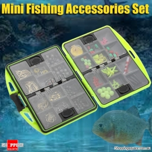 1 Set of MINI Assorted Fishing Tackle Hooks Swivels Bait Accessories