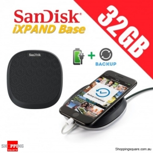 SanDisk iXpand Base 32GB Backup and Mobile Charger for iPhone