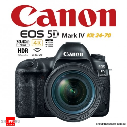 Canon EOS 5D Mark IV DSLR Digital Camera Kit 24-70 Black