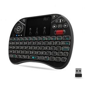 Rii i8X 2.4G Wireless Mini Keyboard Airmouse Touchpad with Scroll Wheel