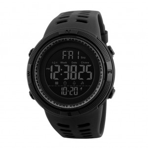 Skmei 1251 Men's Waterproof Digital Sports Watch with Backlight - Black Colour